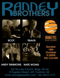 Ranney Brothers group playing in Hong Kong at Orange Peel club