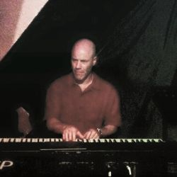 Scot Ranney on piano at Peel Fresco jazz jam in Hong Kong