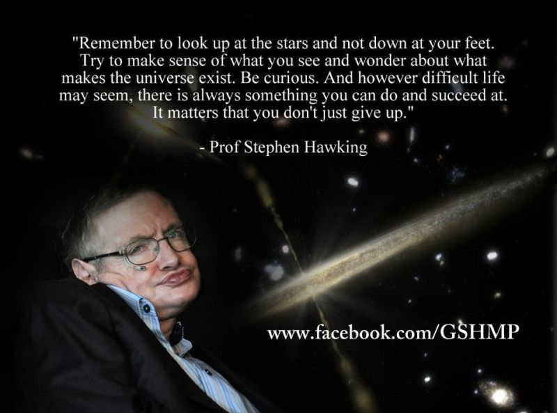 Stephen Hawkins quote: be curious